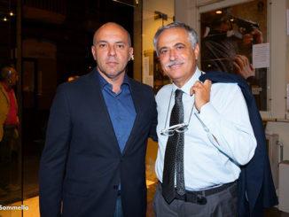 Nella foto il regista Vincenzo Marra e l'Assessore alla Cultura del Comune di Napoli Nino Daniele. (Ph.Marco Sommella)