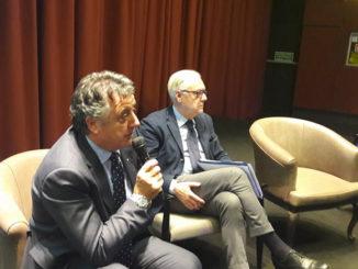 Nella foto Maurizio Pasca, Presidente Silb, alla sua sinistra Michele Moretti, vice presidente Silb