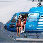 Marco Sommella in elicottero durante un reportage fotografico