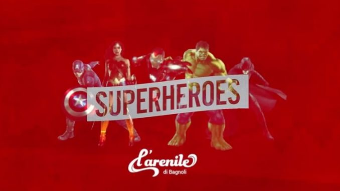 Muevelo Superheroes all' Arenile di Bagnoli