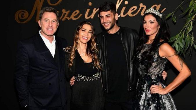 nozze in fiera. Da destra, Magda Mancuso insieme a Jeremias Rodriguez, Cecilia Capriotti e Filippo Nardi (PH. Roberto Jandoli)