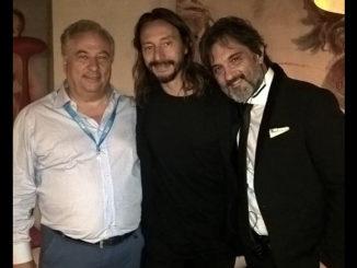 Nella foto, da sinistra,m Ernesto Mendola, Bob Sinclair e Guido Zambelli