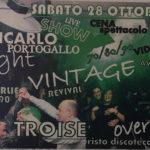 Sabato 28 ottobre serata dell'anno al Troisè di Napoli