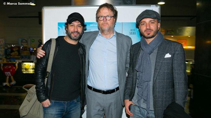 Da sinistra Matteo Branciamone, Francesco Bonelli e Nicolas Vaporidis (Ph. Marco Sommella)