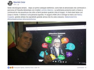 Il post su Facebook di Maurizio Carpi