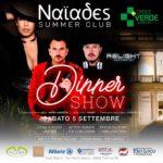 5/9 Dinner Show benefico per Croce Verde Verbania @ Naïades Summer Club